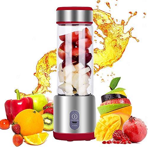 DIHAO Exprimidor Portátil Licuadora Personal, Mezclador de Frutas, Batidora de Zumo USB, Adecuado para Frutas y Verduras, para Hacer Jugos de Frutas/Milkshake Etc