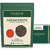 VAHDAM, 2019 Ernte Assam-Teeblätter Mit Goldenen Spitzen, 200g (100 Tassen) - Stark, Malzig & Reichhaltig - Exotischer Assam-Tee Loose Leaf - 100% Zertifizierter Reiner Assam-Schwarztee