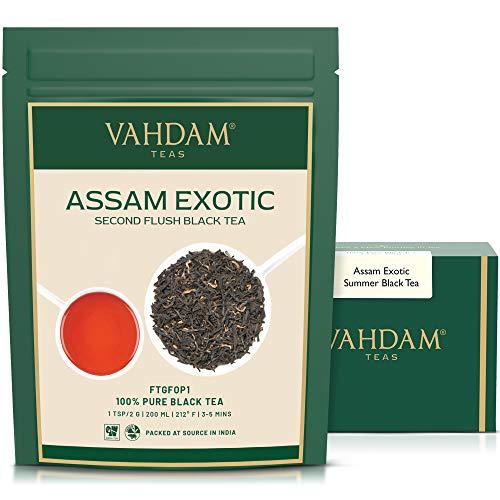 Hojas de Te Assam Exoticos con PUNTAS DORADAS IMPERIALES, Te Negro - Maltoso, Intenso (50 Tazas),Hojas de las Plantaciones de Assam en la India, Perfecto para Te Desayuno Ingles, paquete de 2 X 100 g
