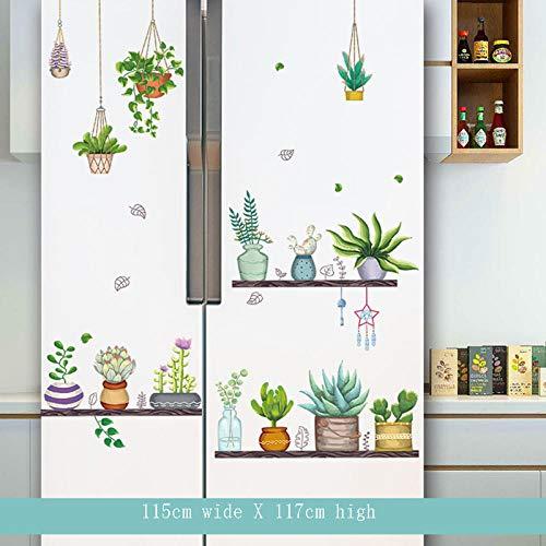 YFKSLAY Adesivi per Frigorifero Adesivi per Cucina Adesivi per Porte Decorative Adesivi per Cartoni Animati Ristorante Piccoli elettrodomestici per Piastrelle Piastrelle autoadesive