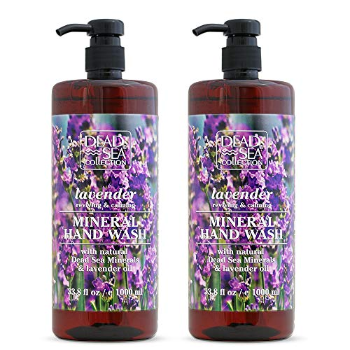 Dead Sea Collection Mineral Hand Wash with Lavender Calming and Reviving 67.6 fl.oz Pack of 2