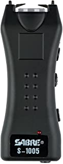 SABRE Dual Capacitor Stun Gun & LED Flashlight– Delivers 1.6 Powerful Pain Inducing microCoulombs & 120 Lumens - Holster & Training Video