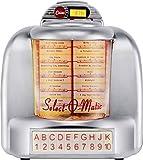 Silva Schneider Jukebox 55 - Radio de Mesa (FM, AUX, Bluetooth®, USB, SD, función de Carga de batería), Color Plateado