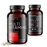 Zenavea - 180 Multivitamins and Minerals Food Supplements with Iron Suitable for Vegetarians