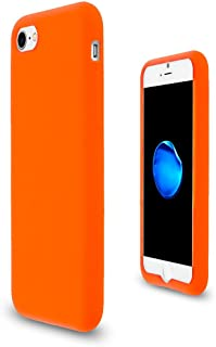 JNSupplier Soft Silicone Rubber Case Flexible Matte Skin Jelly Cover For Apple iPhone 7 8 (Orange)