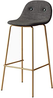 Chair Stool Contemporary bar stool Upholstered backrests and seats Bar stool with gilded metal legacy Contemporary bar sto...