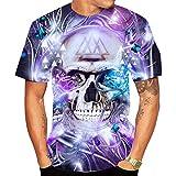 SSBZYES Camiseta para Hombre Camiseta De Verano De Manga Corta para Hombre Camiseta De Cuello Redondo para Hombre Camiseta De Calavera Camiseta De Gran Tamaño para Hombre Camiseta De Pareja De Moda