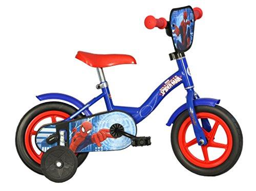 Spiderman Kinderfahrrad Spiderman Jungenfahrrad – 14 Zoll | Original Lizenz | Kinderrad mit Stützrädern - Das Fahrrad aus Spiderman als Geschenk für Jungen