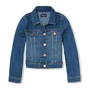 The Children's Place Big Girls' Denim Jacket, AZUREWASH, L (10/12)