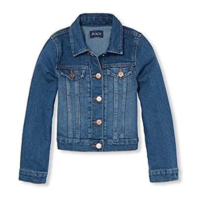 The Children's Place Big Girls' Denim Jacket, AZUREWASH, L (10/12)
