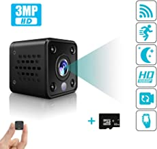 Mini Spy wifi Camera – Wireless Hidden Surveillance Cam for Home Security –3.0-megapixel nanny IP cam that Records Live 1080P HD Video with Night Vision, 32GB Storage,800mAh,Motion & Noise Activation.