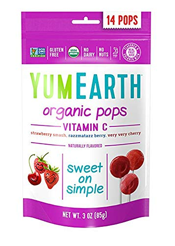 YumEarth Organic Vitamin C Lollipops 3 Ounce Bags  14 Pops 6 pack