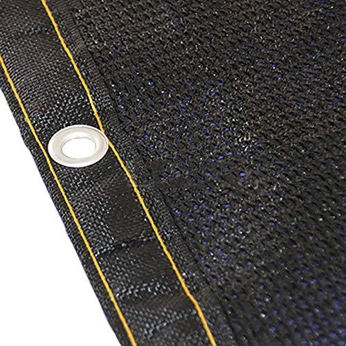 2mX4m Paño de la cortina al aire libre con ojales de acero inoxidable de tono 100cm 2m / 3m / 4 m de ancho cubierta de malla de sol neto planta de PET cubierta de la cortina 85% Bloqueador solar (Tama