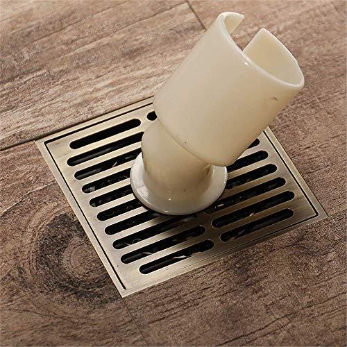 ZXL Wasmachine vloer sifon gemaakt van puur koper, douche afvoer vloer afvoer, deodorant, insectenbestendig, anti-water sifon, verwijderbaar 100X100mm