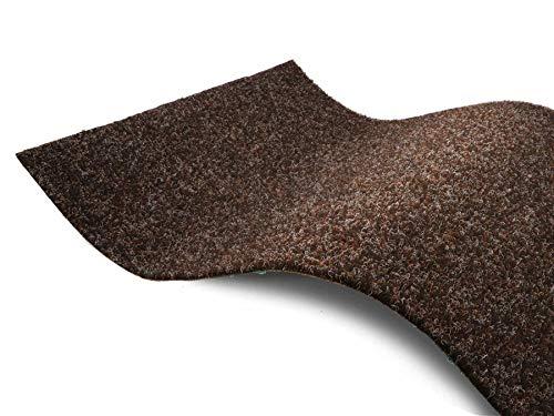 Premium Rasenteppich Meterware GREEN - Braun, 1,33m x 1,00m, Wasserdurchlässiger Outdoor Bodenbelag für Balkon und Terrasse