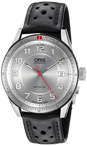 Oris Men's 'Artix GT' Swiss Stainless Steel and Leather Automatic Watch, Color:Black (Model: 73376714461LS)