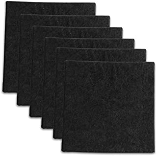 "6 Pack - Black Velour Acoustic Panels Studio PopBoard Sound Rated Foam 1"" X 12"" X 12"""