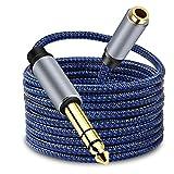 LSYTASG Cable Jack 6.35 Macho a 3.5 Hembra, Cable Audio HiFi Estéreo de TRS 1/4 a 1/8, Adaptador Jack 3.5mm a 6.35mm para Guitarra, Amplificador, Altavoz, Mixer, Electronic Piano, MP3, PC, TV 6M