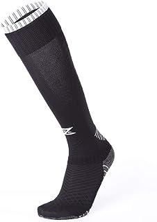 Calcetines largos de fútbol, unisex, 9 colores, para hombre, con ribete en la parte inferior, elásticos, de compresión Jacquard