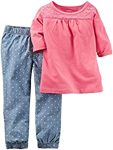 Carter's Girls' 2 Pc Playwear Sets 2...
