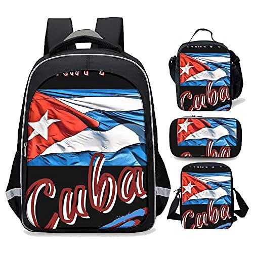 BackpackCUBA, PATRIA YKid Backpack Lunch bag School bag Single shoulder bag Recreational Backpack Set of 4 PCSOne size