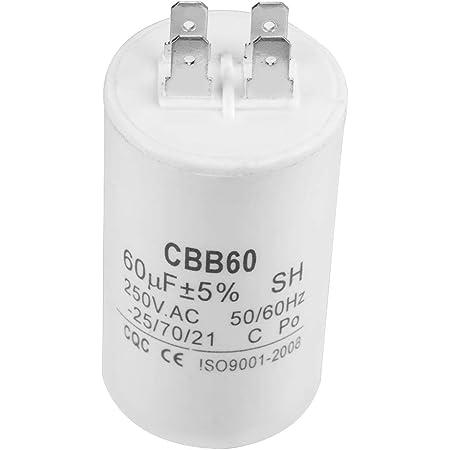 Betriebskondensator Rund 60uf Ac 250v 50 60hz Cbb60 Zylinderförmiger Laufkondensator Für Motorpumpen Baumarkt