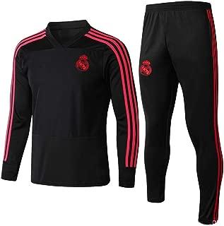 QAZWSX Men's Real Madrid Football Uniform Long Sleeve Training Suit Sportswear Tights Suit