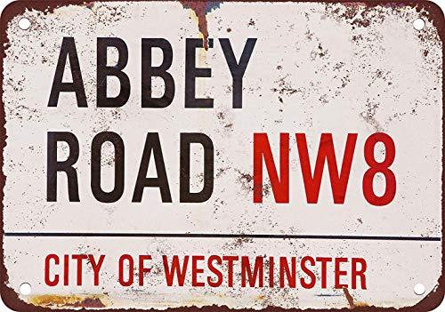 La véritable plaque de rue en métal The Beatles Abbey Road