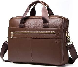 Mens Bag Men's Real Leather Leisure Business Briefcase Handbag High capacity