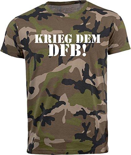 Volkspark Hamburg Streetwear Herren T-Shirt Camouflage DFB 1.0 (XL)