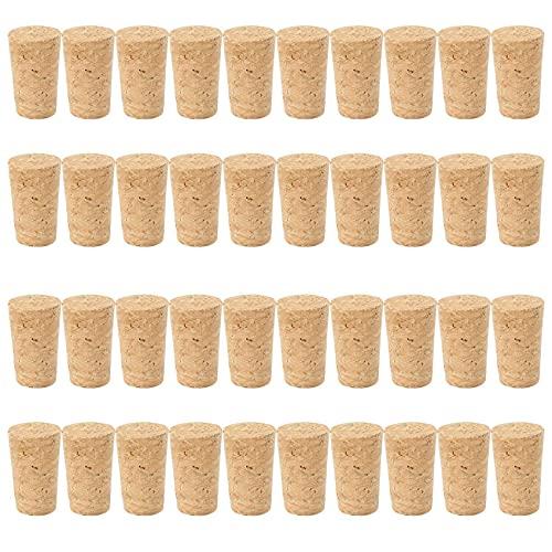 Baalaa 40 tapones de madera natural tapón de vino tapón de botella de madera tipo cono botella de vino tapones tapón de sellado tapón de botella de cerveza Corchos