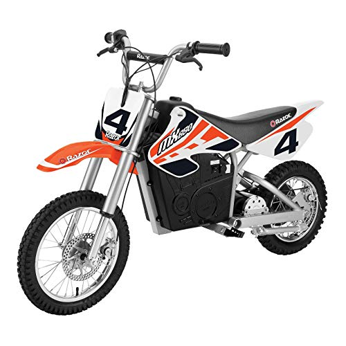 Razor MX650 Dirt Rocket Adult & Teen Ride On High-Torque Electric Motocross Motorcycle Dirt Bike, Speeds up to 17 MPH - Orange