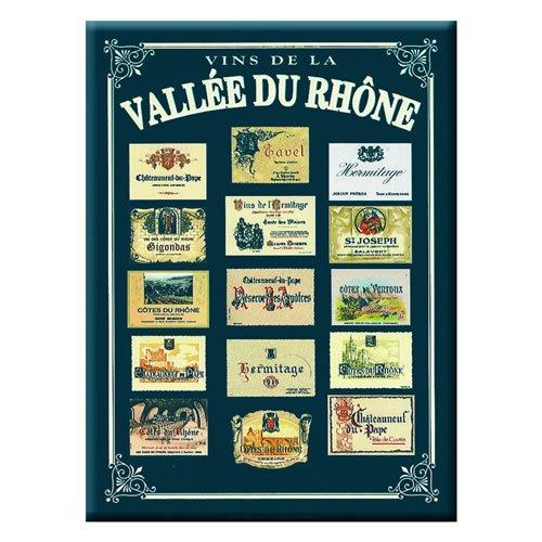 Souvenirs de France - Carte et Poster Métal Vins du Rhône (40 x 30cm)