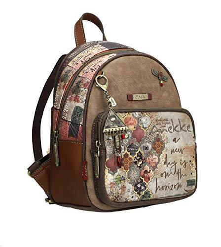Bonita mochila de paseo de tamaño medio con estampado arabescos