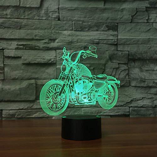 Luz de noche 3d Lámpara de mesa táctil creativa para motocicleta nueva 7 colores Lámpara de escritorio cambiante Lámpara 3d Novedad Luces de noche Led Estrella de la muerte Luz led