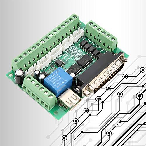Tarjeta de interfaz USB Junta de control de movimiento CNC Breakout Board 5 Axis MACH3 para equipo de máquina