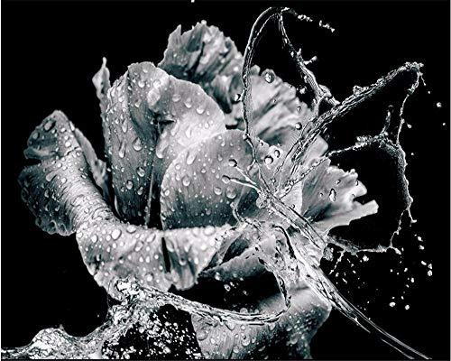 SFALHX Fotomural Rosa blanco y negro Mural papel pintado fotomurales m