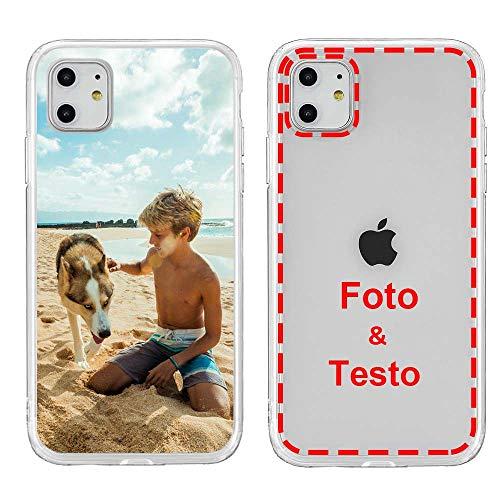 MXCUSTOM Cover Personalizzata per Apple iPhone 11, Custodia Personalizzate con Foto Immagine Testo Design Crea Le tue [Morbido Trasparente TPU] (FXT-CR-P1)