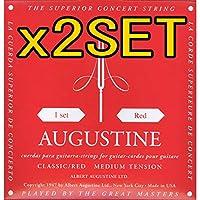 【2セット】AUGUSTINE RED SET x2set オーガスチン クラシックギター弦 【国内正規品】