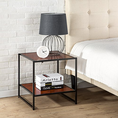 Zinus Modern Studio Collection 20 Inch Square Side / End Table / Night Stand / Coffee Table / Good Design Award Winner, Brown