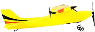 Remote Control Glider, 2CH Gyro RTF Remote Control Glider 350mm Wingspan Easy to Fly Durable Soft EPP Foam Micro Indoor RC Airplane, Aircraft Toys Adult Student Gift (Yellow)