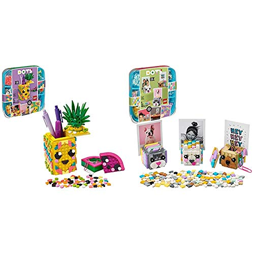 LEGO DOTS Animal Picture Holders 41904 and Pineapple Pencil Holder 41906 DIY Craft Decorations Bundle