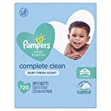 Pampers Baby Wipes Complete Clean Baby Fresh Scent 9X Pop-Top 720 Count
