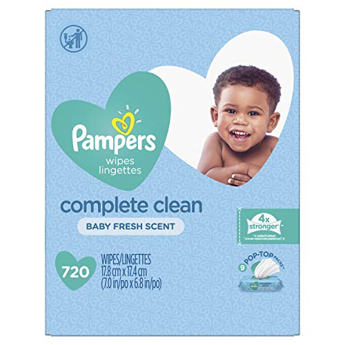 Pampers Baby Wipes Complete Clean Baby Fresh Scent 9X 80 Pop-Top - 720 Count