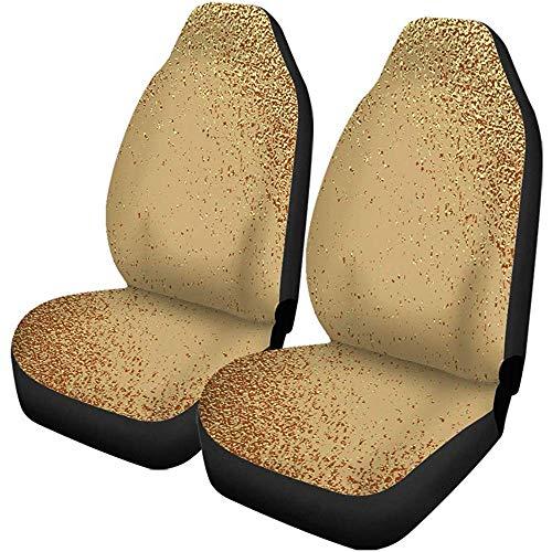 Auto Stoelhoezen Goud Te Maken Distressed Effect Patina Scratch Gouden Vintage Auto Accessoires Beschermers Universeel