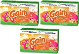 Gain Dryer Sheets - Island Fresh Scent - 34 Count Dryer Sheets Per Box - Pack of 3