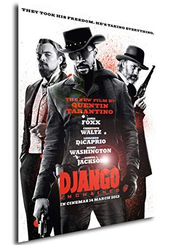 Instabuy Poster Django Unchained - Theaterplakat (Plakat 70x50)