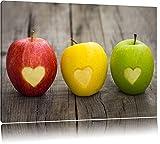 Ampel Herzäpfel in rot gelb grün! 3 Äpfel mit