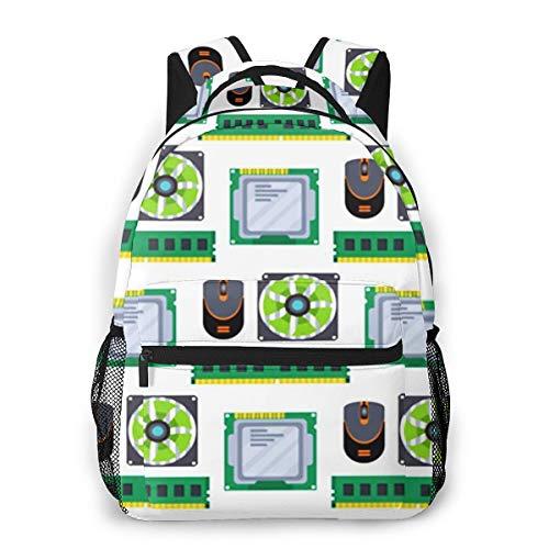 Rucksack Männer Und Damen, Laptop Rucksäcke für 14 Zoll Notebook, Prozessor für Computerchip Technologie Kinderrucksack Schulrucksack Daypack für Herren Frauen