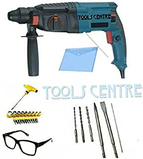 TOOLSCENTRE Tools Centre Powerful Rotary Hammer Drill Machine With 3 Modes With Free Safety Goggles,T Spanner Set + Document Folder.